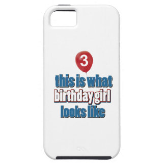 Chica 3 del cumpleaños iPhone 5 Case-Mate cárcasa