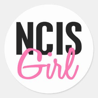 Chica 4 de NCIS Pegatina Redonda