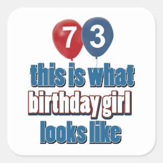 Chica 73 del cumpleaños