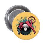 Chica 8-Ball del diablo Pin