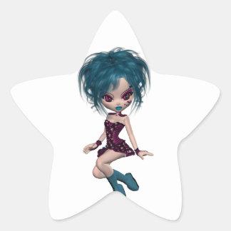 Chica 9 del gótico de la mascota de Gothique del Calcomania Cuadrada Personalizada