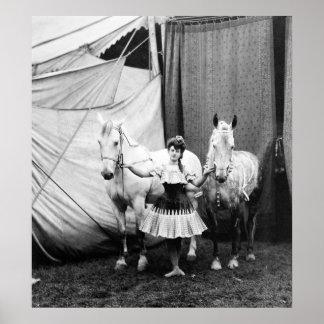 Chica a pelo: 1904 póster