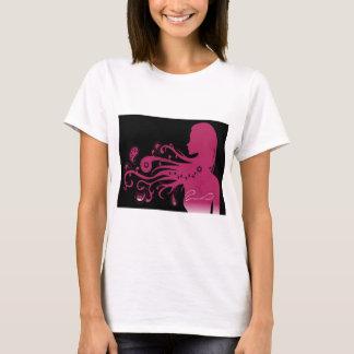 chica abstracto rosado psicodélico playera