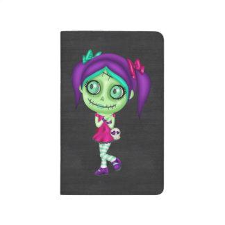Chica adorable del zombi cuadernos grapados