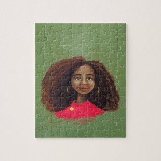 Chica africano bonito puzzle