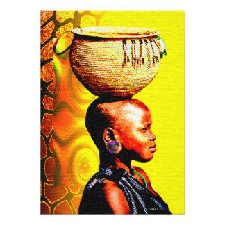 ¡Chica africano del agua en el Sun caliente! Fotografías
