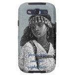 Chica africano hermoso galaxy s3 protectores
