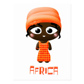 Chica africano postal