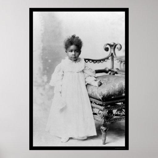 Chica afroamericano 1900 impresiones