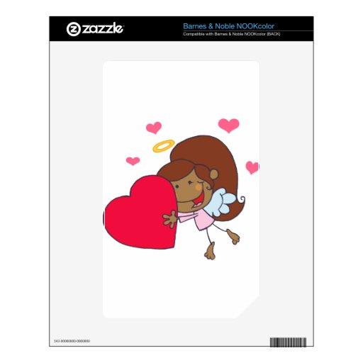 Chica afroamericano del Cupid Skin Para El NOOK Color