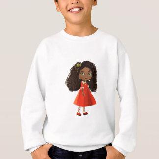 Chica afroamericano del dibujo animado sudadera