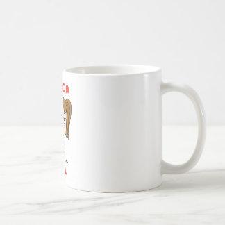 Chica al azar taza