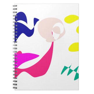 Chica alegre del color de fondo de encargo cuadernos