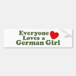 Chica alemán pegatina para auto