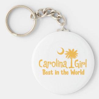 Chica amarillo de Carolina mejor del mundo Llavero Personalizado