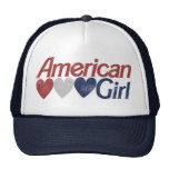 Chica americano gorra