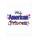 Chica americano postal