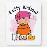 Chica animal insignificante Mousepad Tapetes De Ratones