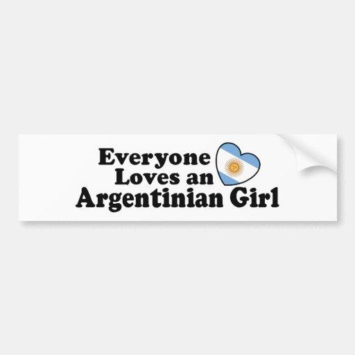 Chica argentino pegatina para auto