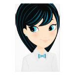 Chica asiático papeleria