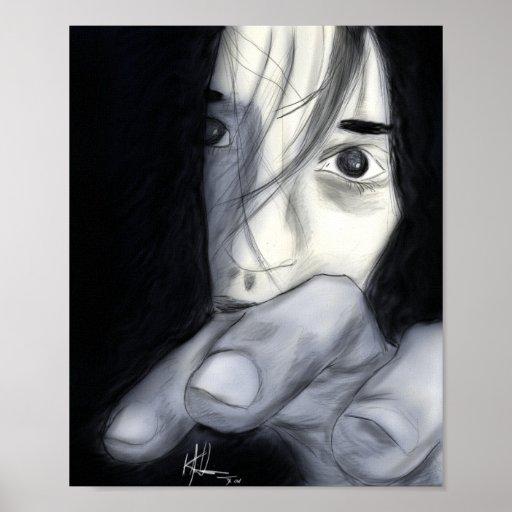 Chica asustadizo póster
