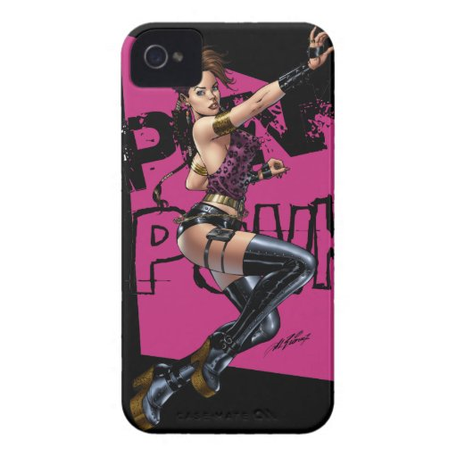 Chica atractivo del punk rock por el Al Río del ar Case-Mate iPhone 4 Fundas