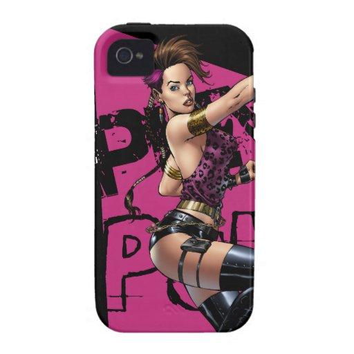 Chica atractivo del punk rock por el Al Río del iPhone 4/4S Carcasas