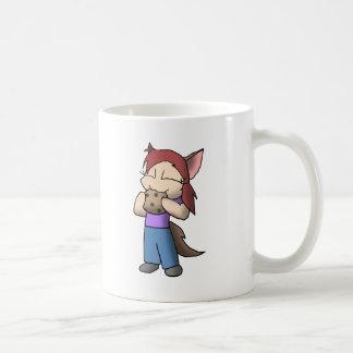 Chica autístico de Kemonomimi con la galleta Taza De Café