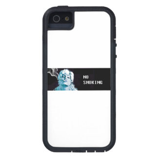 chica azul de no fumadores del caso del iphone que funda para iPhone SE/5/5s