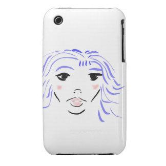 chica azul Case-Mate iPhone 3 coberturas