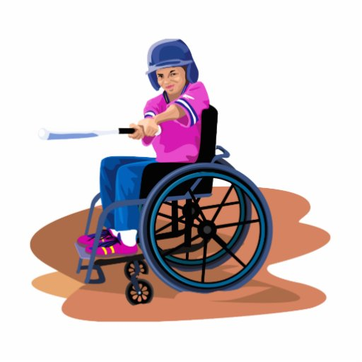 Chica Ball.png de la silla de ruedas Fotoescultura Vertical