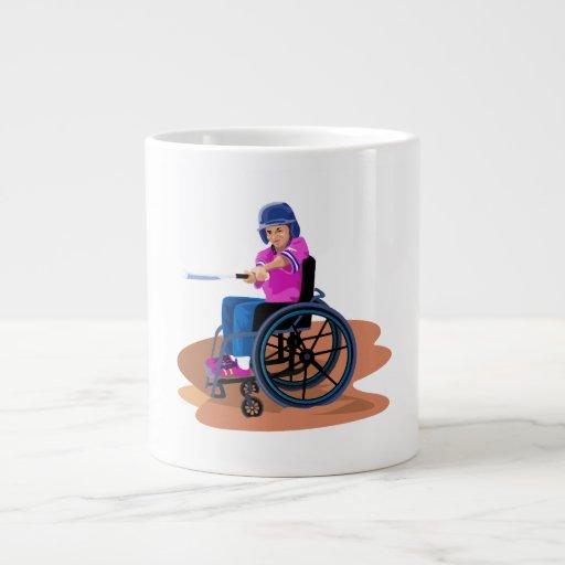 Chica Ball.png de la silla de ruedas Taza Jumbo