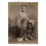 Chica birmano joven, c.1875 tarjeta de felicitación