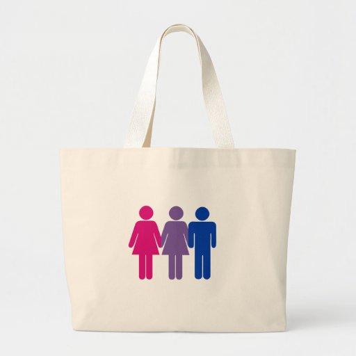 Chica bisexual bolsa lienzo