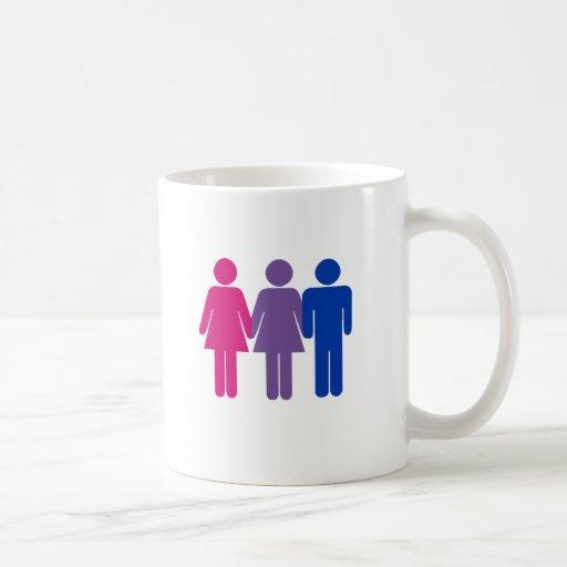 Chica bisexual taza básica blanca