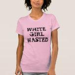 Chica blanco perdido camisetas