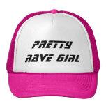 Chica bonito del delirio gorras