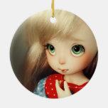 chica bonito hermoso del duende del kawaii del bjd adornos de navidad