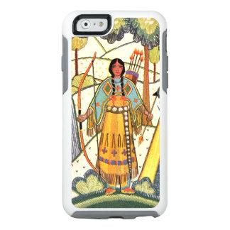 Chica bordado vintage del nativo americano de la funda otterbox para iPhone 6/6s