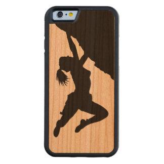 chica bouldering el caso de madera del iPhone 6 Funda De iPhone 6 Bumper Cerezo