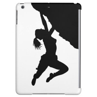 chica bouldering