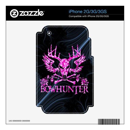 CHICA BOWHUNTER CALCOMANÍAS PARA iPhone 3GS