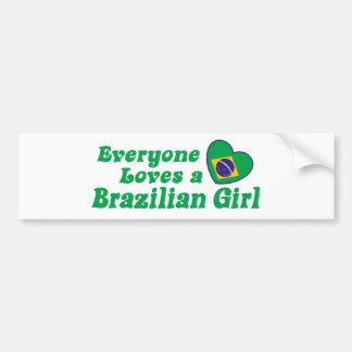 Chica brasileño pegatina de parachoque
