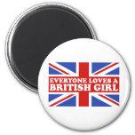 Chica británico imán para frigorifico