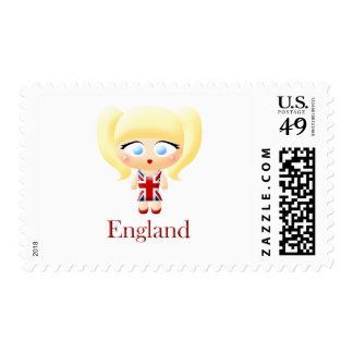 Chica británico sellos
