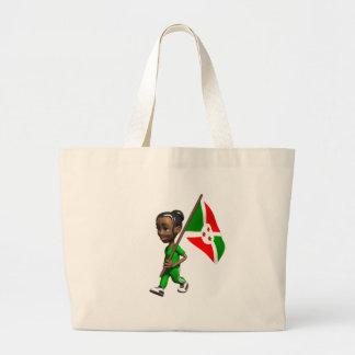 Chica burundés bolsas de mano