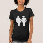 Chica + Camisetas de la oscuridad del chica
