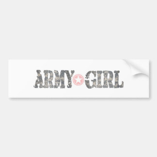 Chica Camo del ejército Pegatina Para Auto
