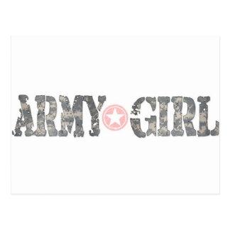 Chica Camo del ejército Tarjetas Postales