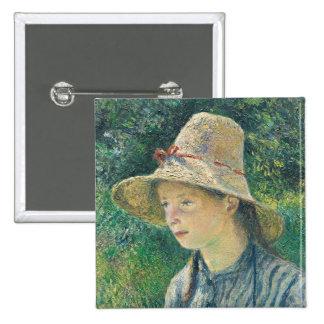 Chica campesino con un gorra de paja, 1881 pins